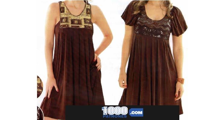 vestidos con y sin mangas