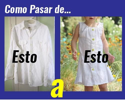 patron de vestido para niña con una camisa